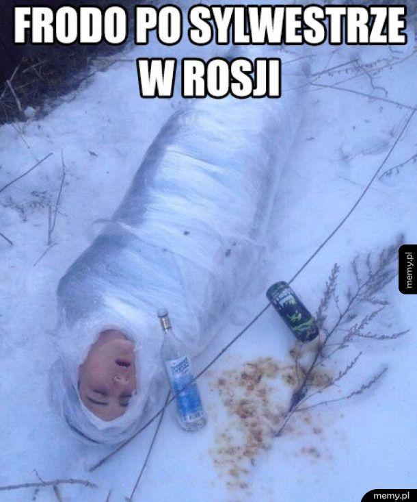Frodo po sylwestrze w Rosji