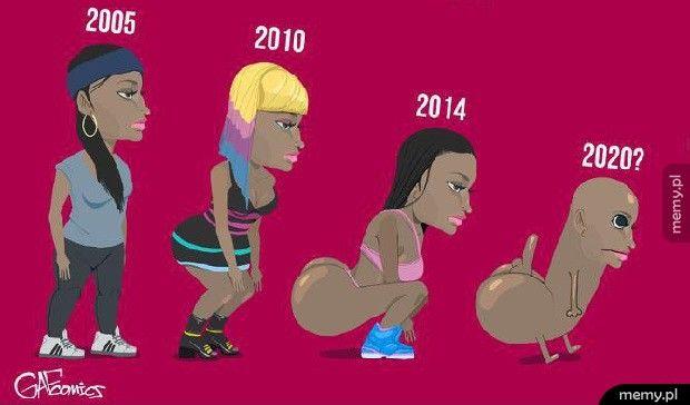 Ewolucja tyłka Nicki Minaj