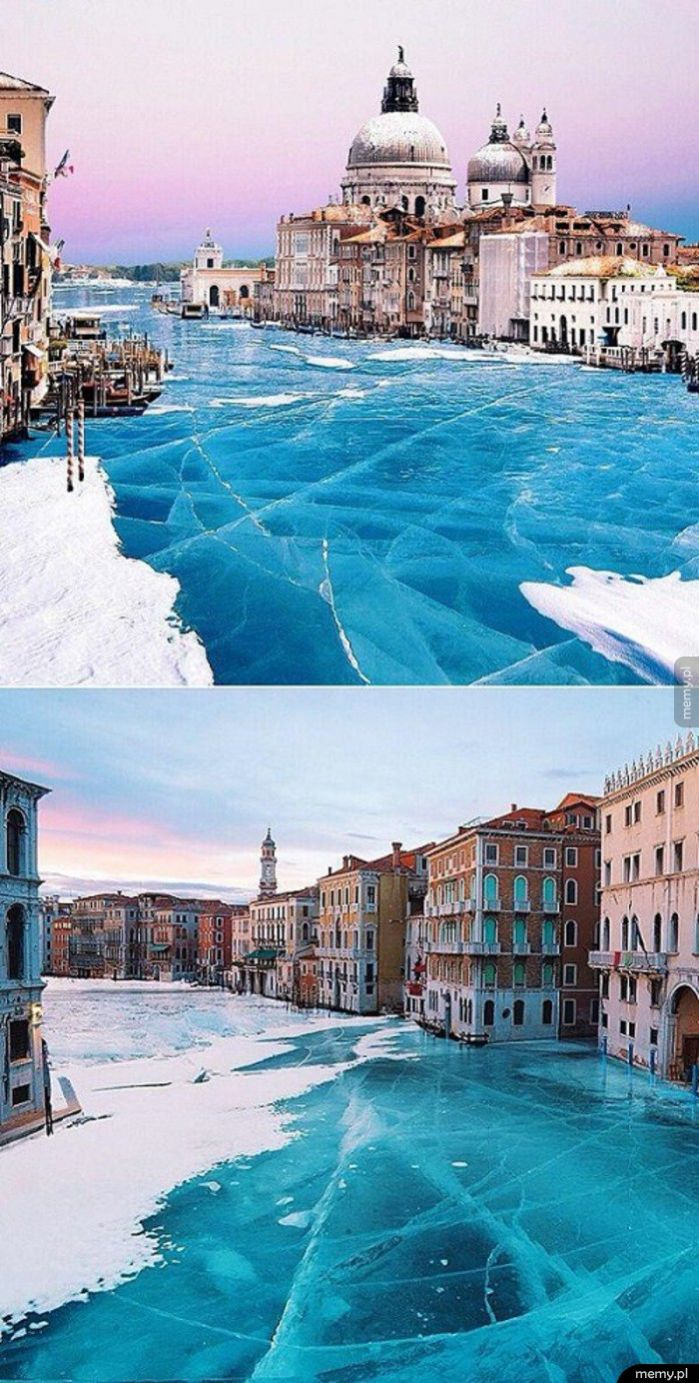 Wenecja podczas mroźnej zimy