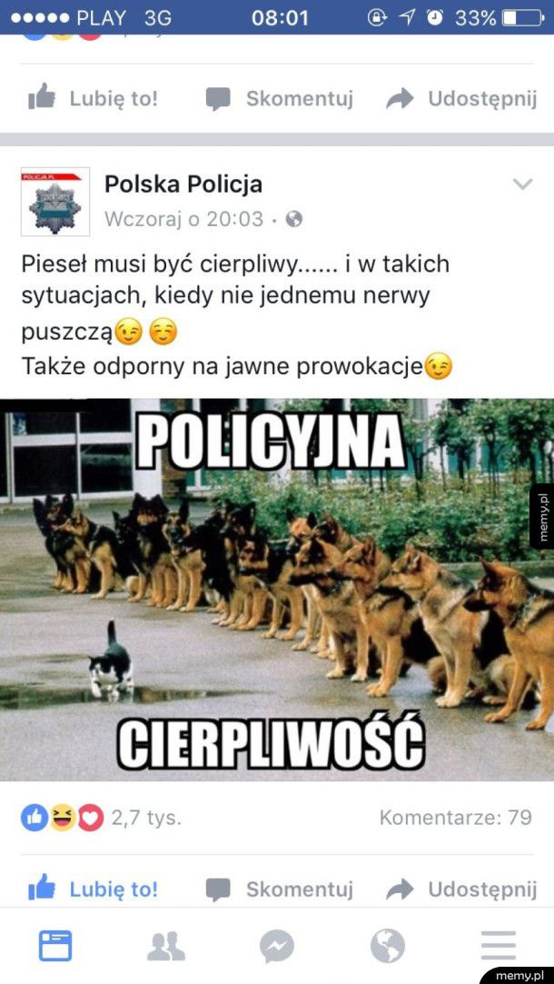 Polska Policja znowu śmieszkuje