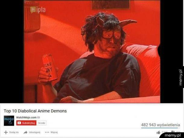 Top 10 demonów z anime