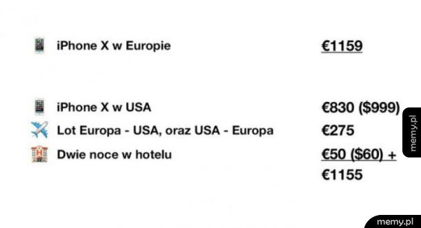 Cena iPhone X w Europie