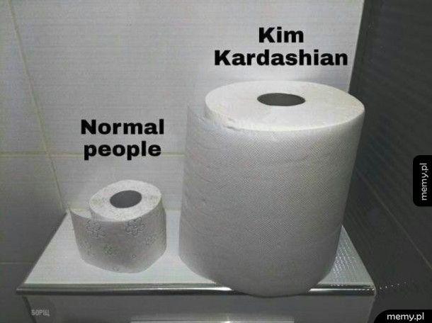 Papier toaletowy dla Kim Kardashian