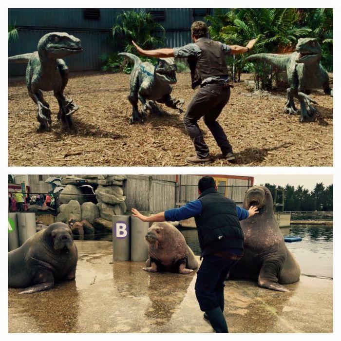 Pracownicy Zoo w scenie z Jurassic World