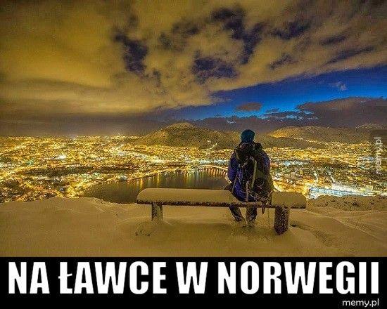 Na ławce w norwegii