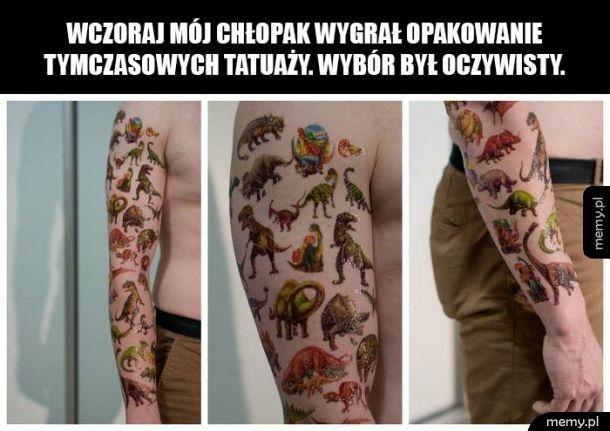 Opakowanie tymczasowych tatuaży
