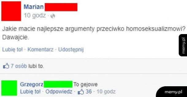 Najlepszy argument