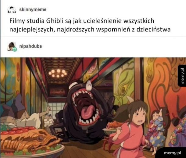 Ach te rozkoszne bajki studia Ghibli