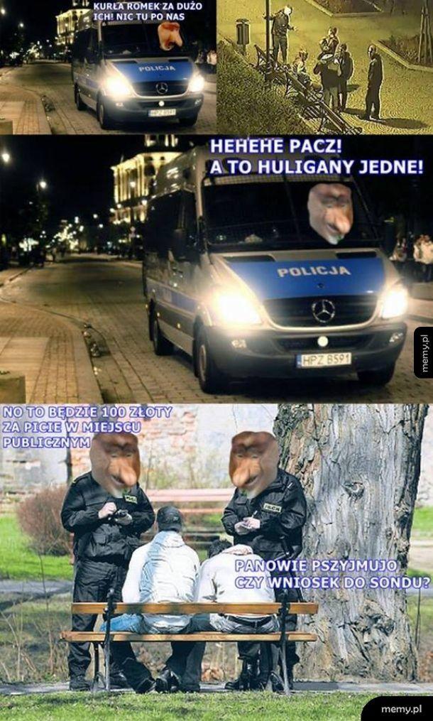 Typowy policjant