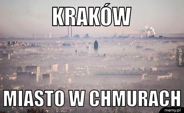 Kraków miasto w chmurach