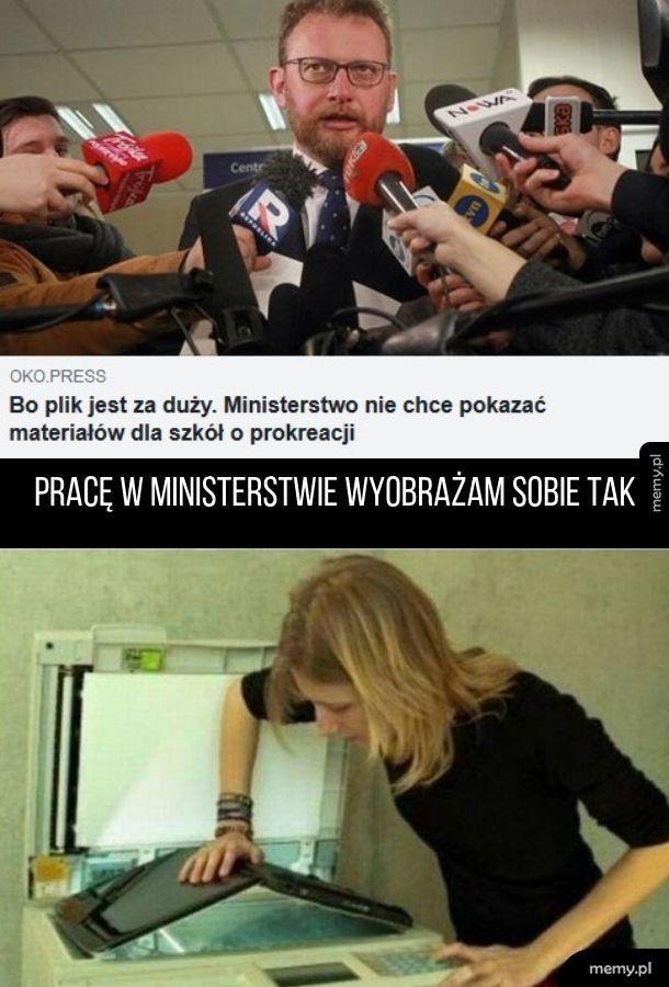 Ministerstwo nie umie w komputer