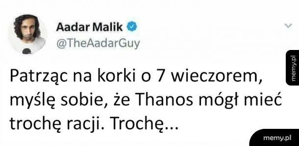 Thanos nie zrobił nic złego