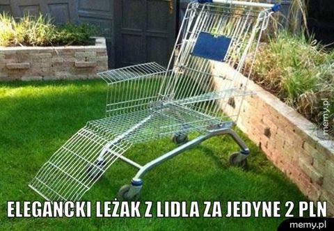 Elegancki leżak z Lidla za 2 PLN