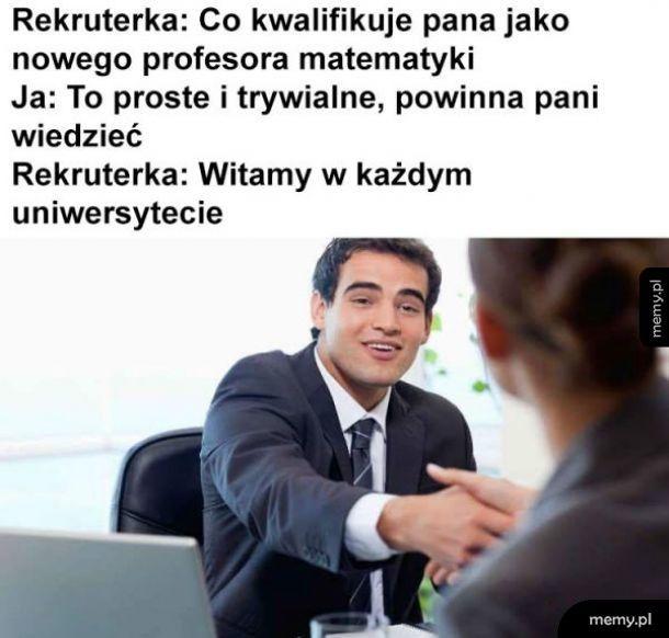 Rekrutacja profesora