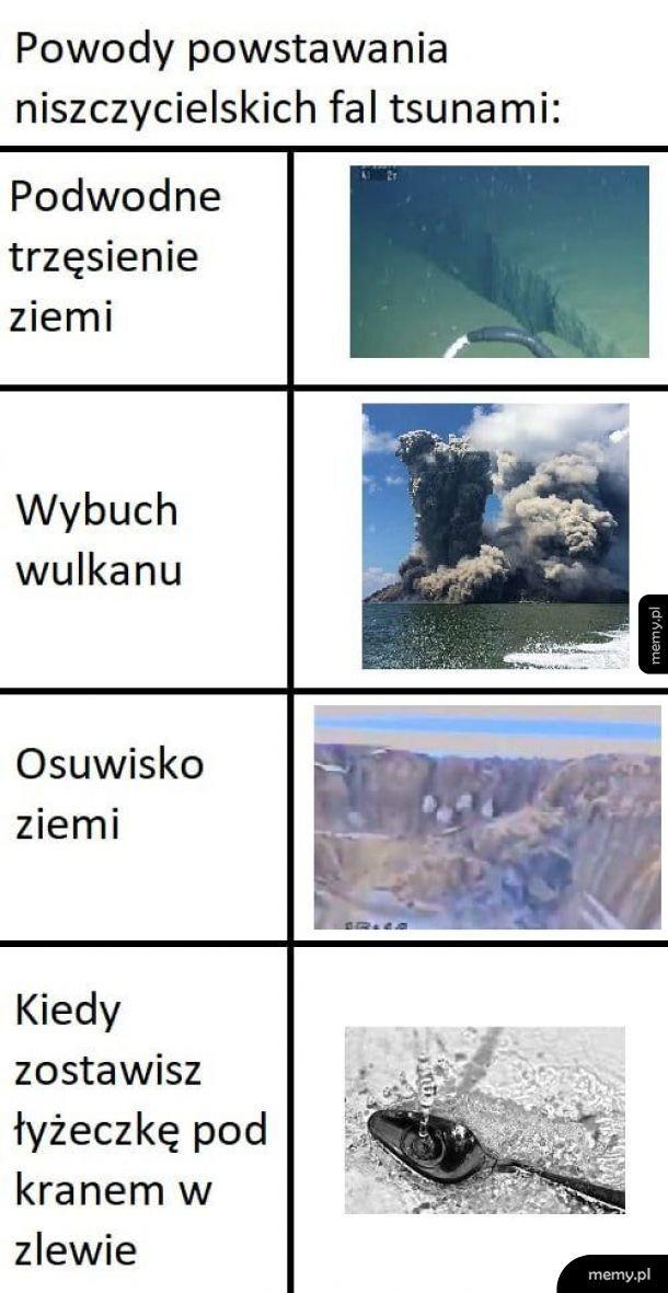 Tak powstaje tsunami
