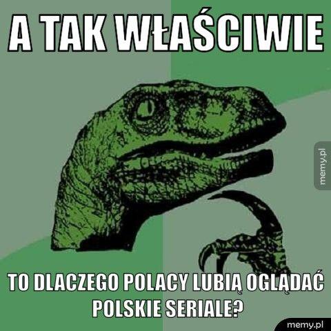 A tak właściwie to dlaczego polacy lubią oglądać polskie seriale?