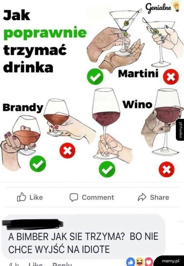 Poprawne trzymanie drinka