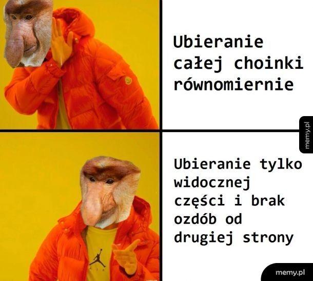 Choinka w polski domu