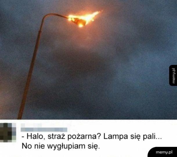 Lampa się pali