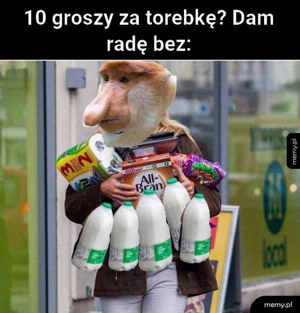 10 groszy za torebkę