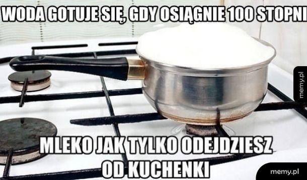 Gotowanie mleka