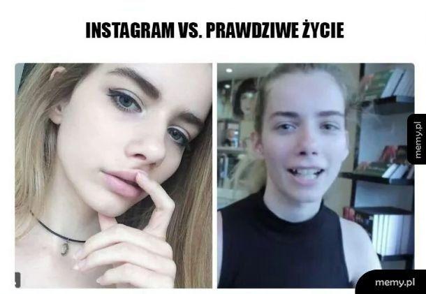 Instagram vs prawdziwe życie