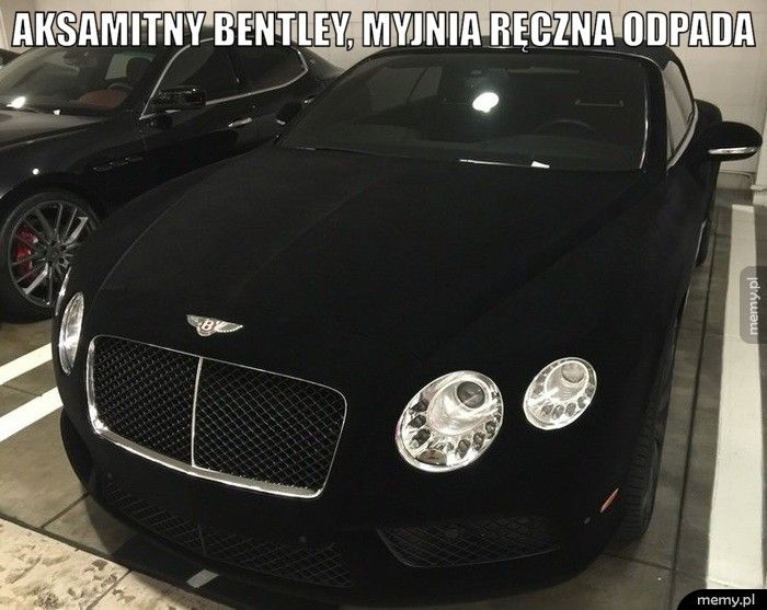 Aksamitny Bentley, Myjnia ręczna odpada