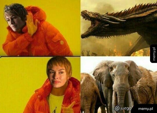 Bardzo chciała mieć te słonie