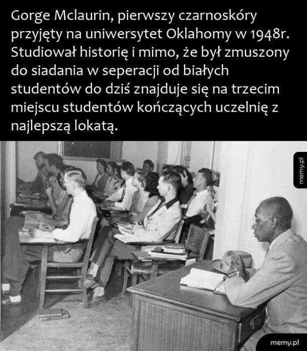 Pierwszy czarnoskóry student