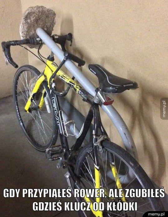 Gdy przypiąłeś rower...