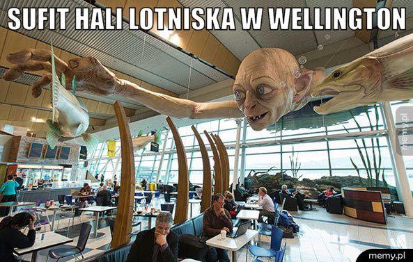 Sufit hali lotniska w Wellington