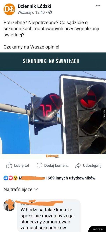 Korki w Łodzi