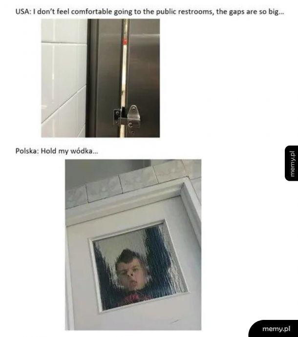 Toalety: USA vs Polska