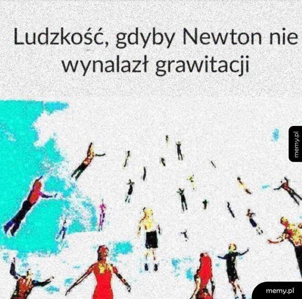 Dziękuję pan Newton