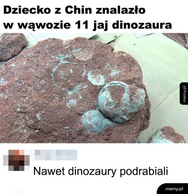 Podróbka dinozaurów