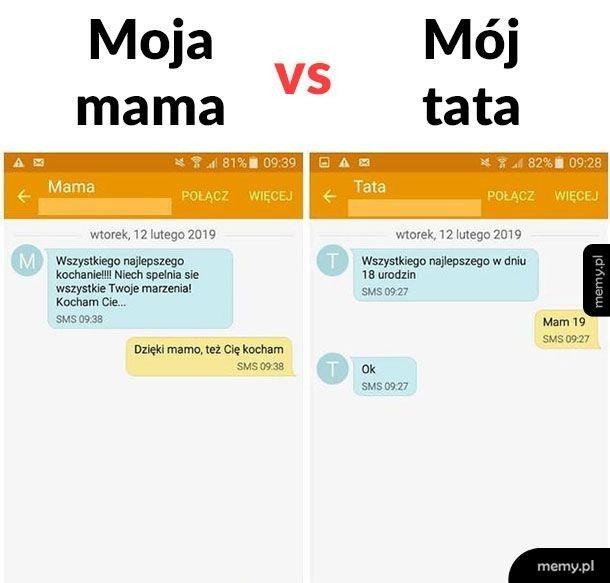 Mama vs tata