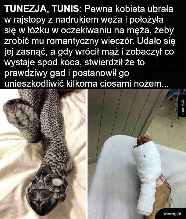 Wężowe rajtuzy takie seksi
