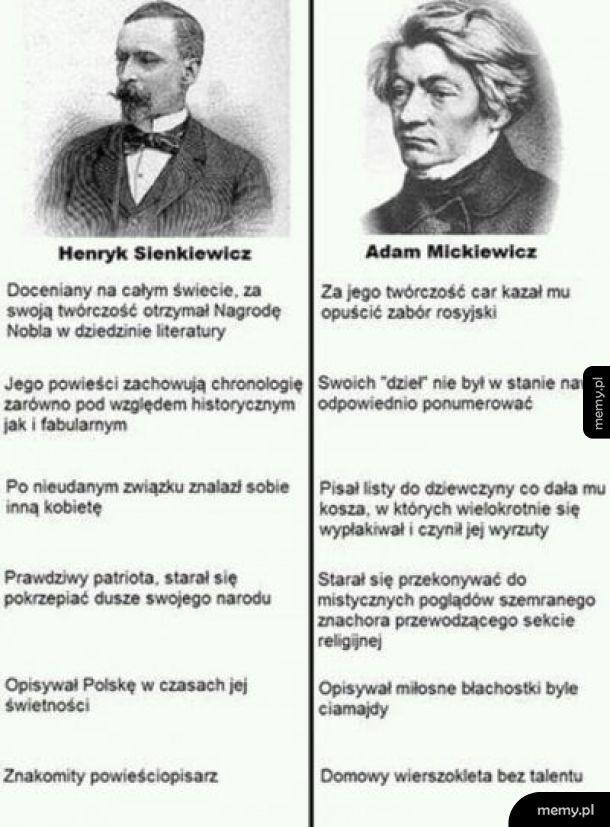 Sienkiewicz vs Mickiewicz