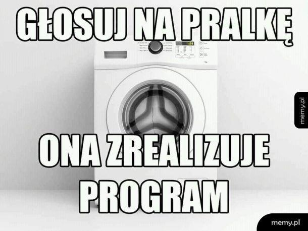 Głosuj na pralkę