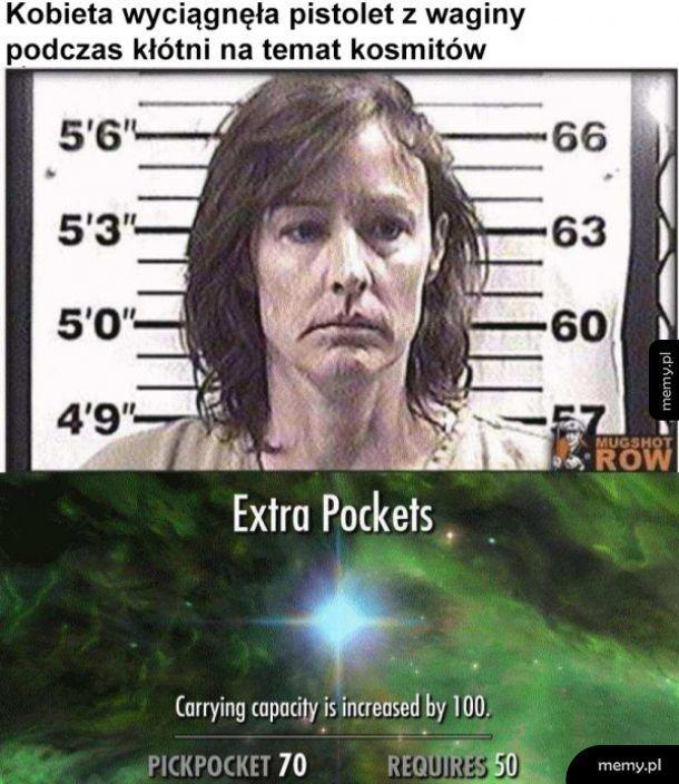 Extra pockets