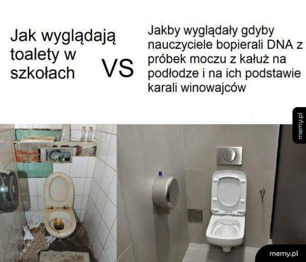 Toalety w szkole