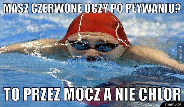 Masz czerwone oczy po pływaniu? to przez mocz a nie chlor