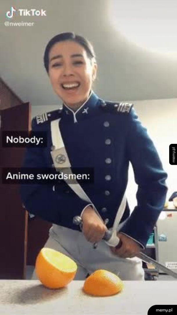 Ludzie z mieczami w anime tacy są