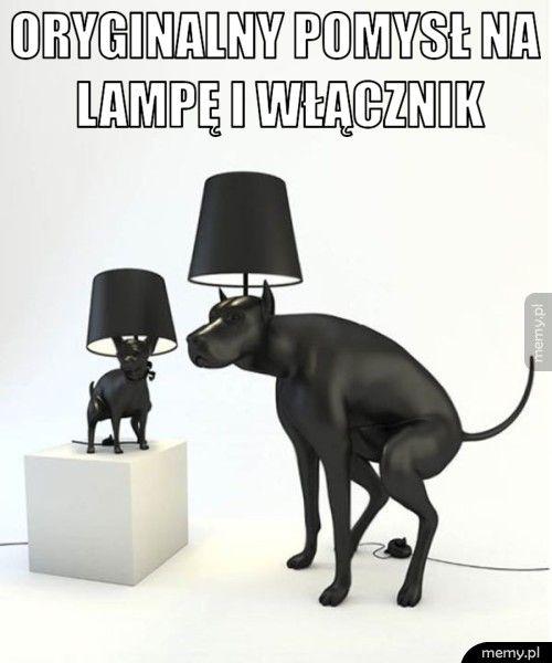 Oryginalny pomysł na lampę i włącznik