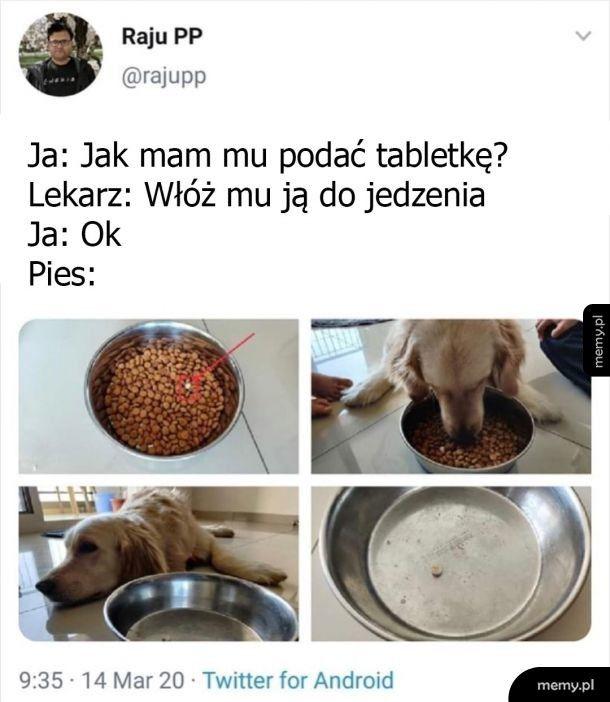 Tabletka w jedzeniu