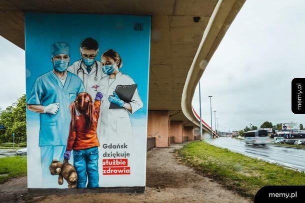Mural dla Medyków