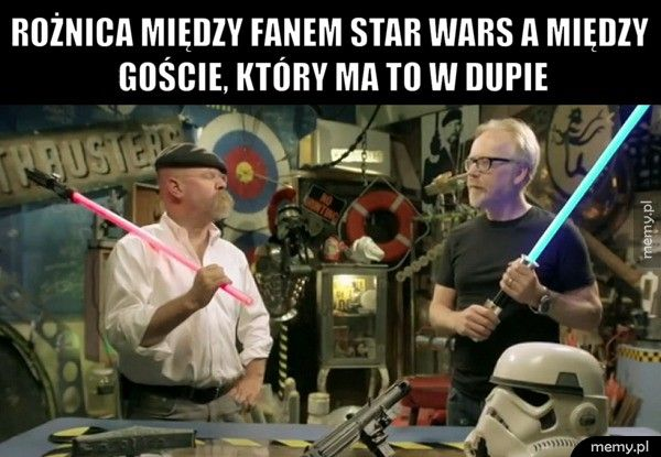 Rożnica między fanem Star Wars a między goście, który ma to w du