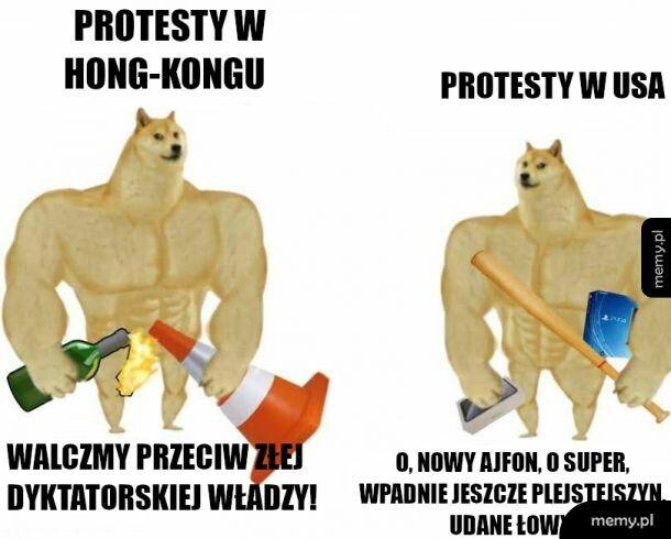 Są protesty i zamieszki