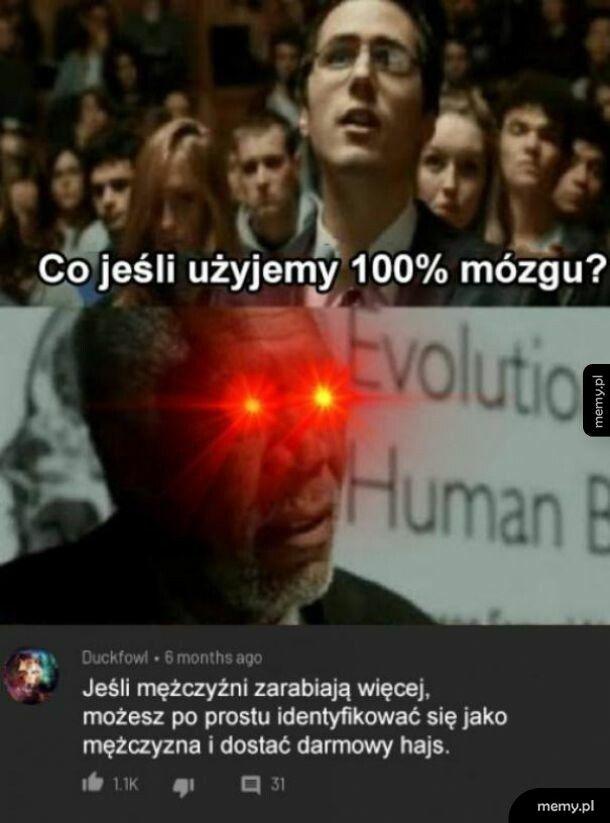 100% mózgu