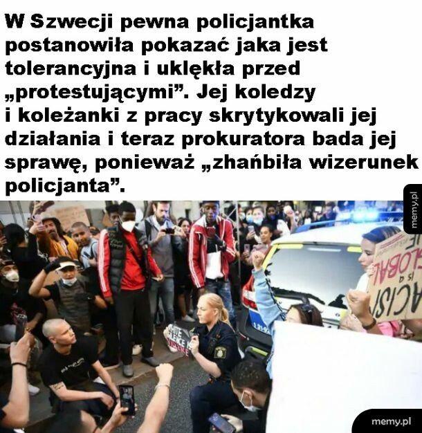 Policjantka w Szwecji